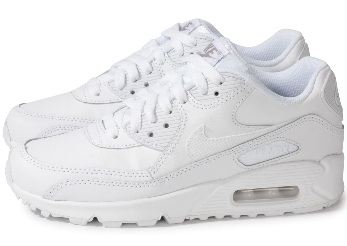 air max 90 blanche femme,Nike AIR MAX 90 LEATHER Blanc ...